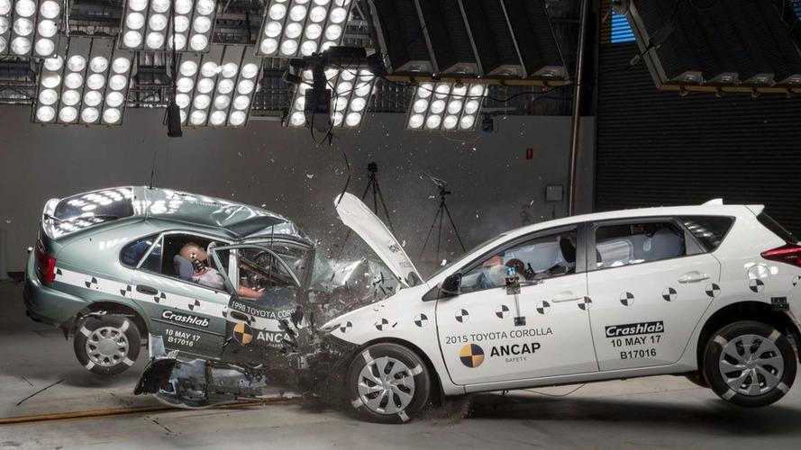 Crash-test - Une Corolla de 1998 se mesure à sa sœur cadette