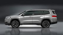 Jeep yedi koltuklu model render