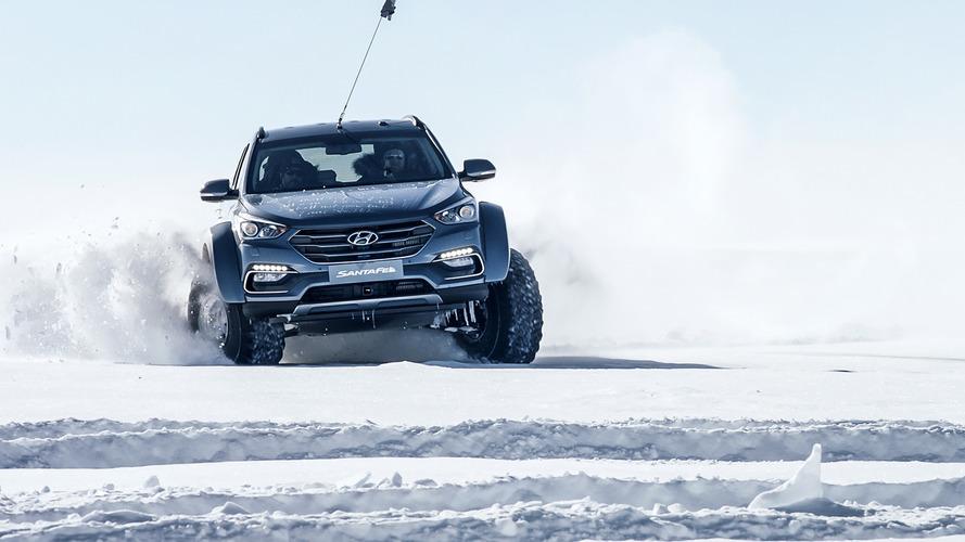 Hyundai Santa Fe Güney Kutbu'nda