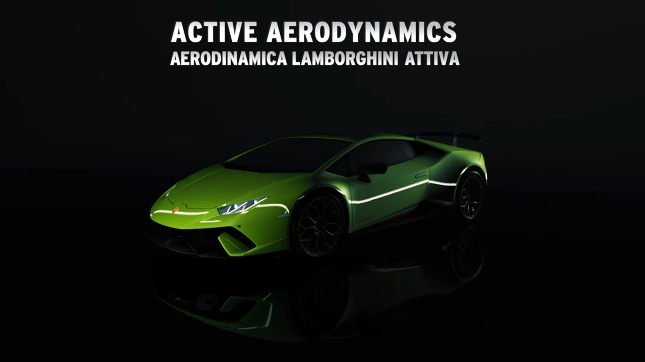 Aereodinamica Lamborghini Attiva Video