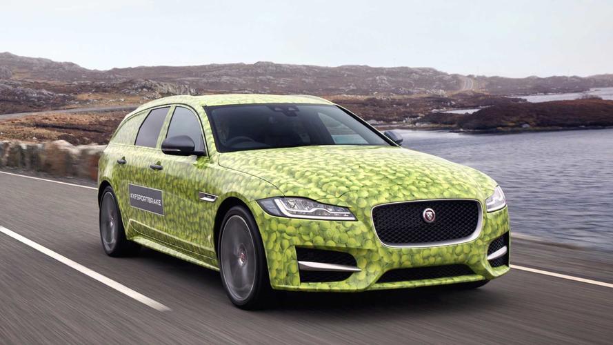 La Jaguar XF Sportbrake se cache sous un étrange camouflage