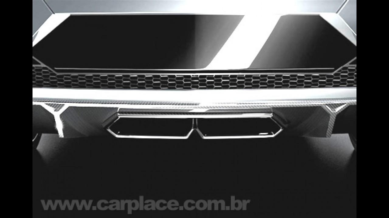 Lamborghini divulga teasers do novo superesportivo que mostrará em Paris