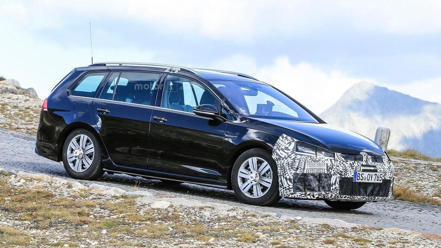 Volkswagen Golf R - Le prototype de la version restylée aperçu sur la route