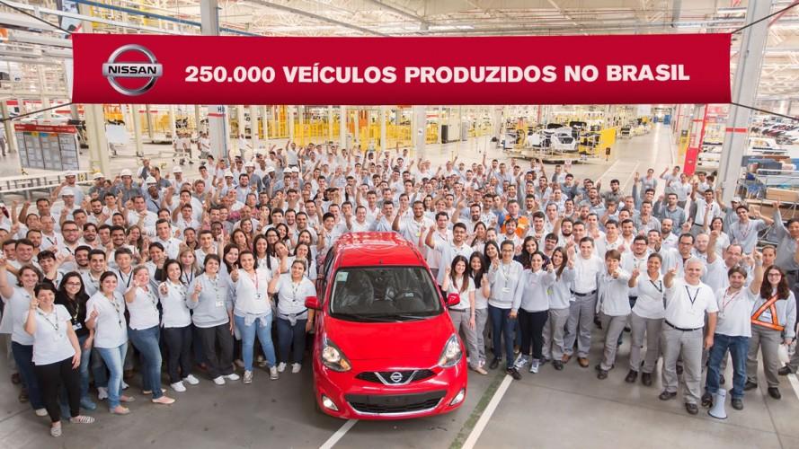 Com duas fábricas no Brasil, Nissan chega a 250 mil carros produzidos