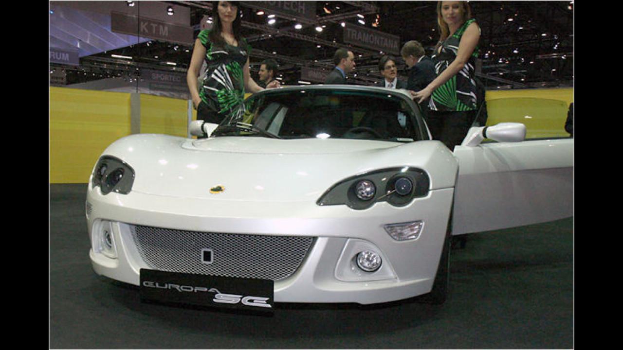 Der Lotus Europa SE kommt im Juni 2008 serienmäßig mit einem Motorstarterknopf auf den Markt