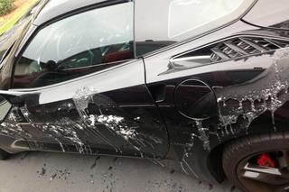 A Crazy Person Poured Paint Stripper on a 2014 Corvette Stingray