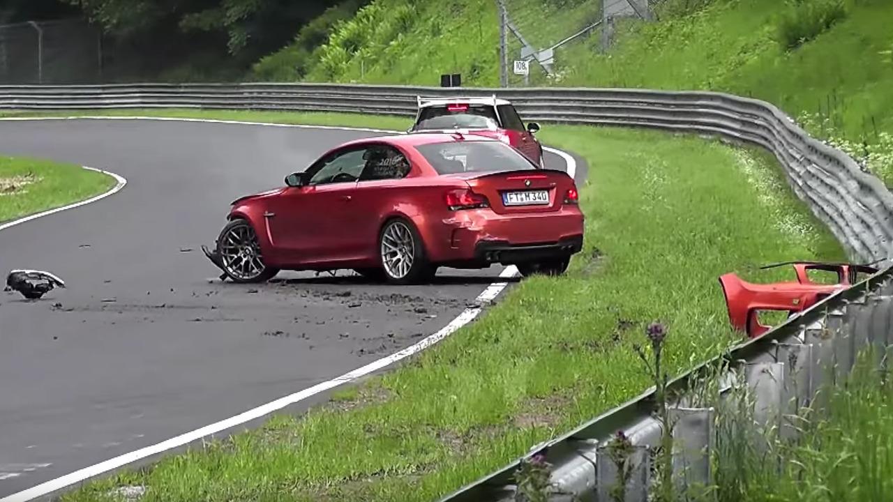 BMW 1 Series M Coupe crash