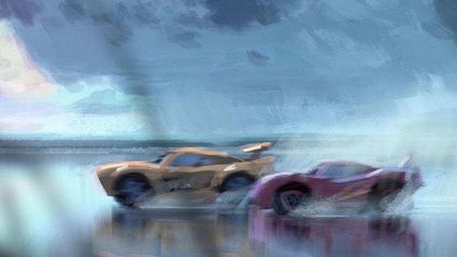 Cars 3 concept art reveals a new character racing in the sand
