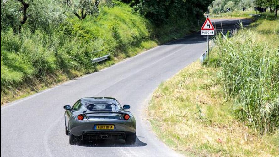 Lotus Evora S Sports Racer, la prova su strada