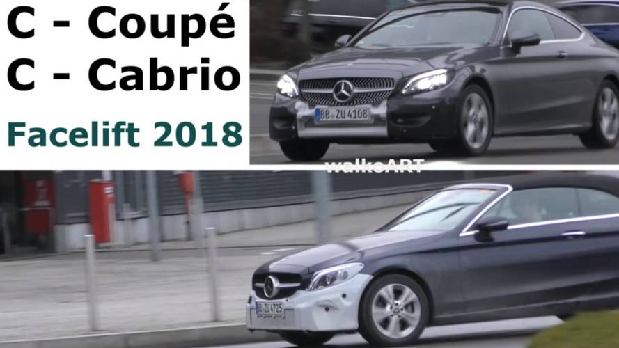 VIDÉO - Les Mercedes Classe C Coupé et Cabriolet restylées en cours d'essais