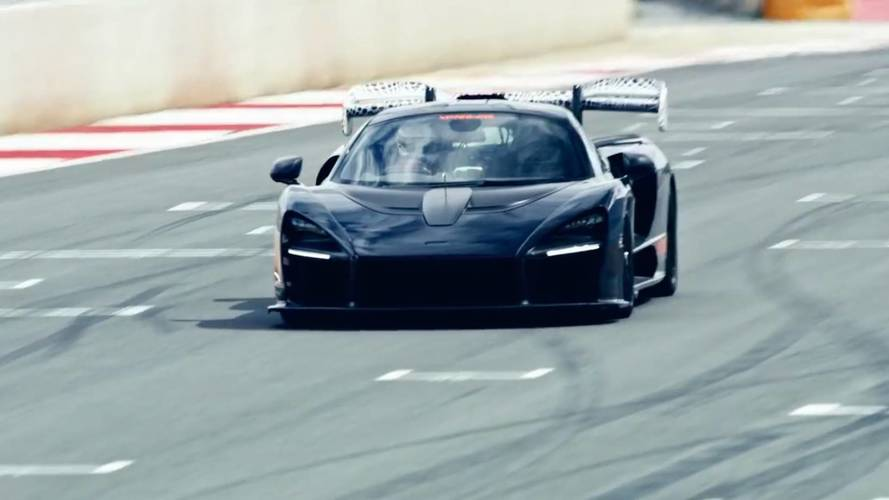 See The Menacing McLaren Senna In Track Action