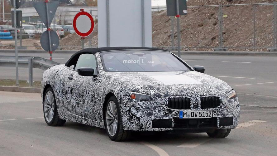 BMW 6 Series or 8 Series convertible spy photos