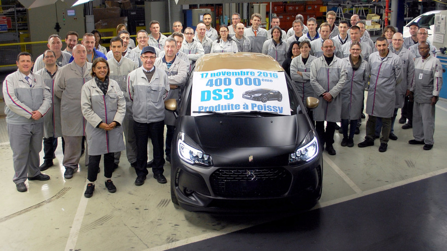 DS 3 production passes the 400,000 mark