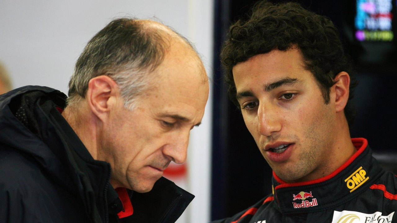 Franz Tost with Daniel Ricciardo 06.07.2012 British Grand Prix,