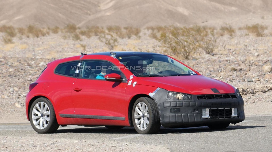 2014 Volkswagen Scirocco facelift returns in new spy shots