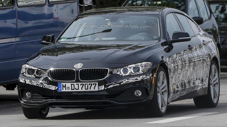 2014 BMW 4-Series GranCoupe loses some of its camouflage in latest spy pics