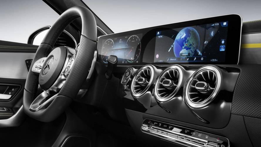 Mercedes A Serisi iç mekan görüntüsü hibrit modele aitmiş