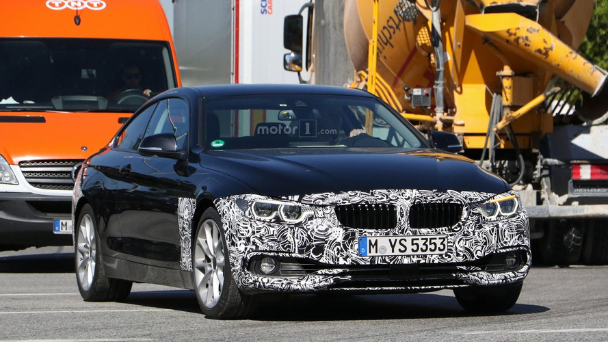 BMW 4 Series Coupe facelift spy photos