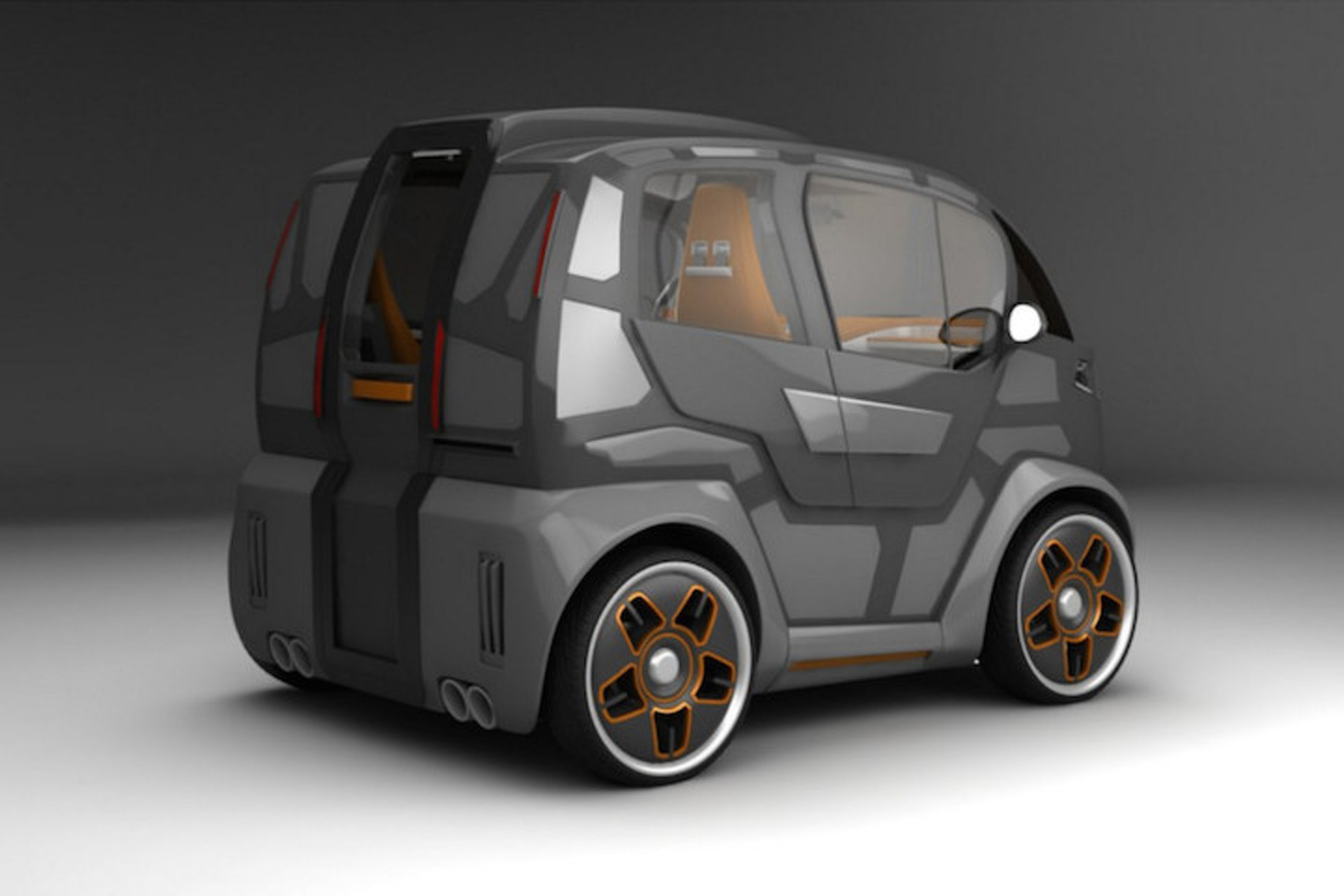 Mirrow Provocator is a Super Tiny City Car for Four