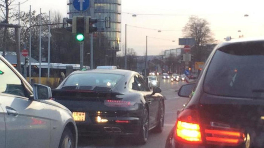 Porsche 911 Turbo facelift spotted testing with minimal camouflage