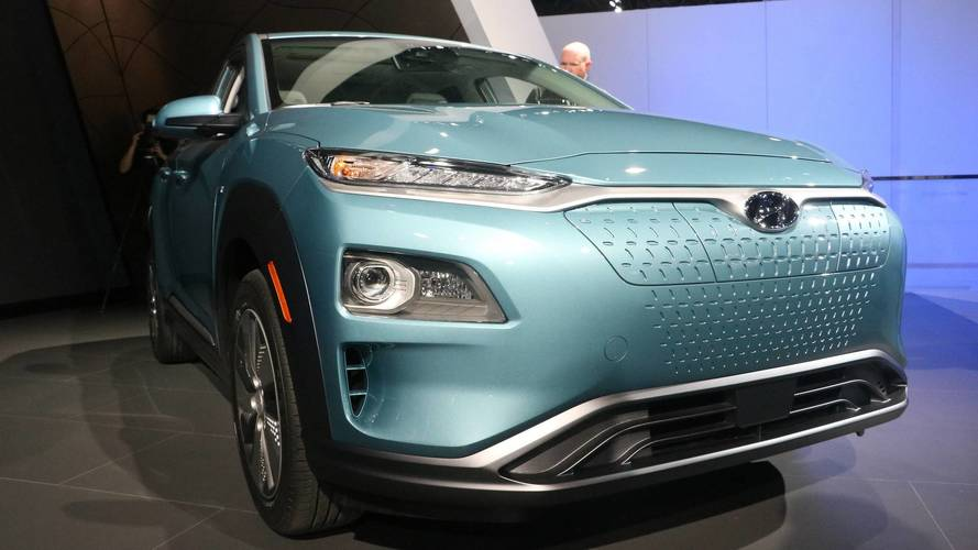 Hyundai Kona Electric at the 2018 New York and Geneva shows