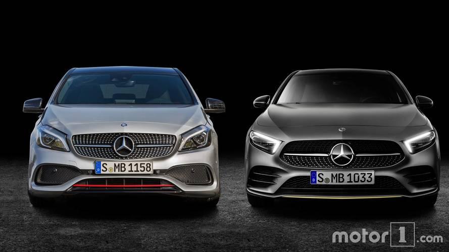 La nouvelle Mercedes Classe A rencontre son aînée