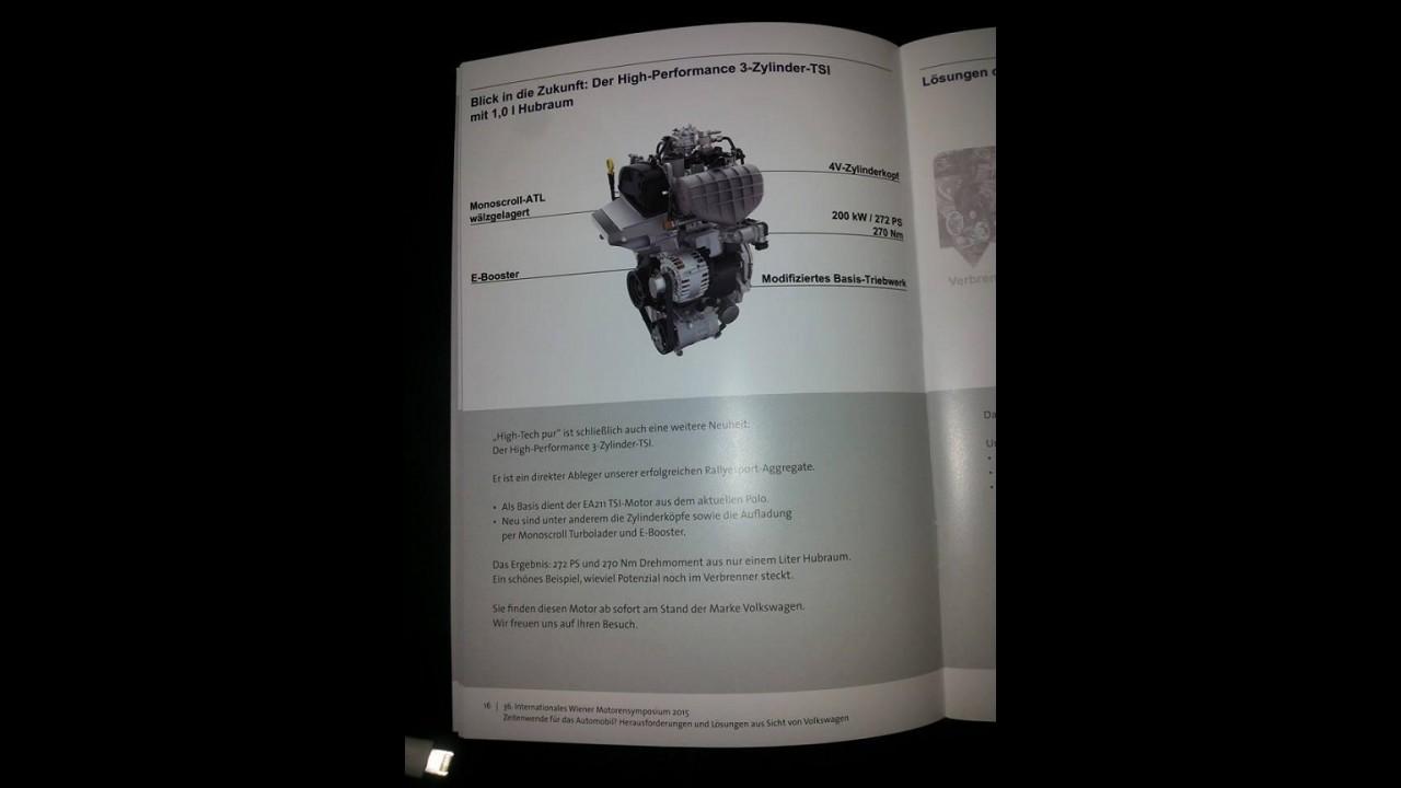 VW apresenta motor 1.0 TSI em versão super potente com 272 cavalos