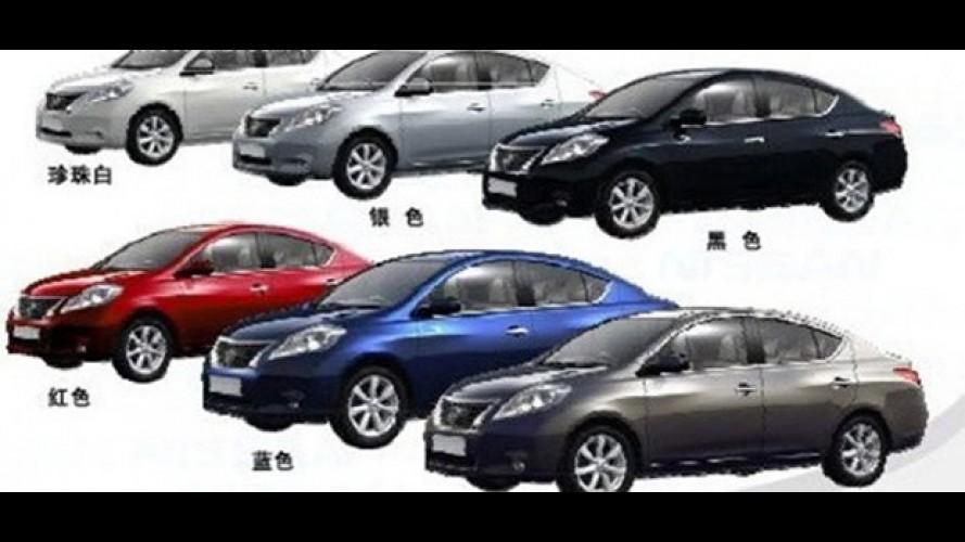Nissan Sunny? Imagem do Nissan March Sedan vaza na internet