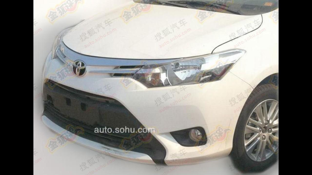 """Flagra: veja a versão de produção do """"emergente"""" Toyota Vios"""