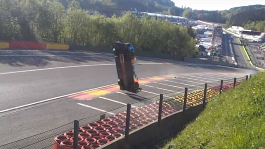 Endurance Race Car Goes Airborne In Scary Crash At Spa