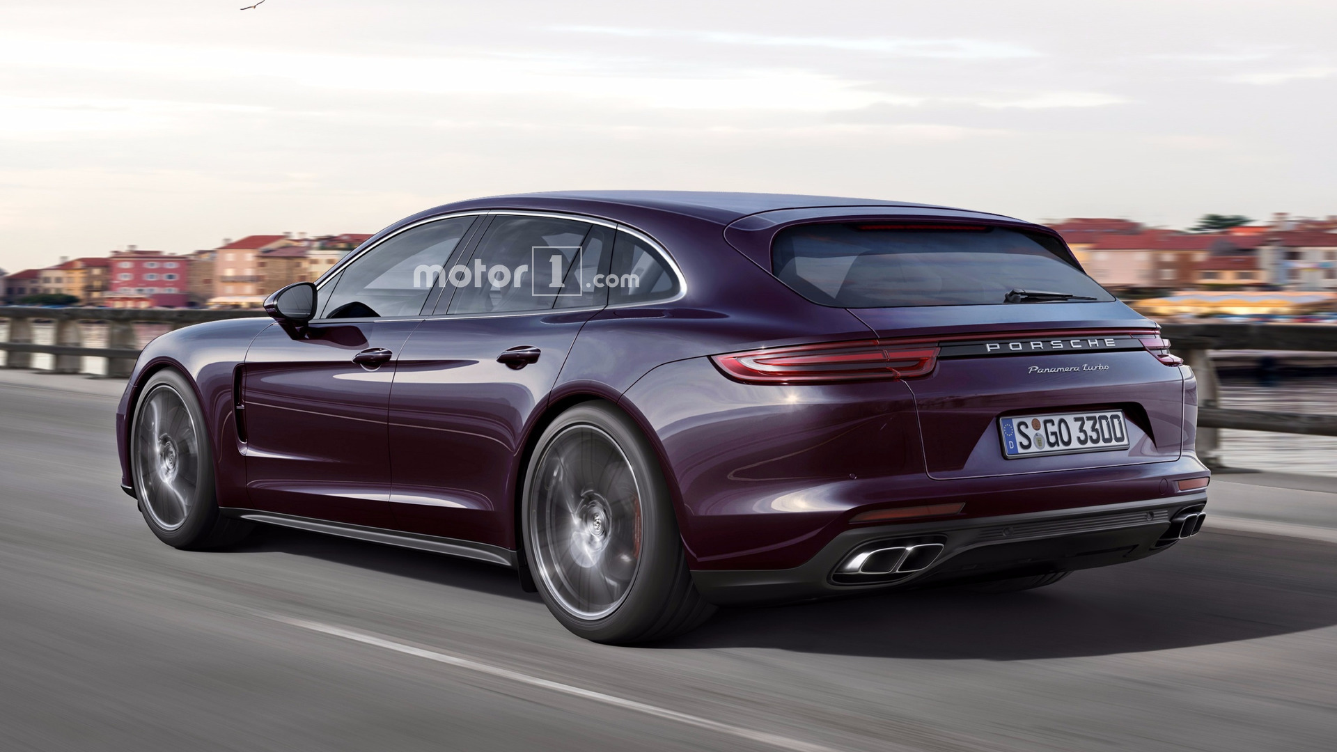 2018 porsche panamera sport turismo render is a sign of things to come. Black Bedroom Furniture Sets. Home Design Ideas