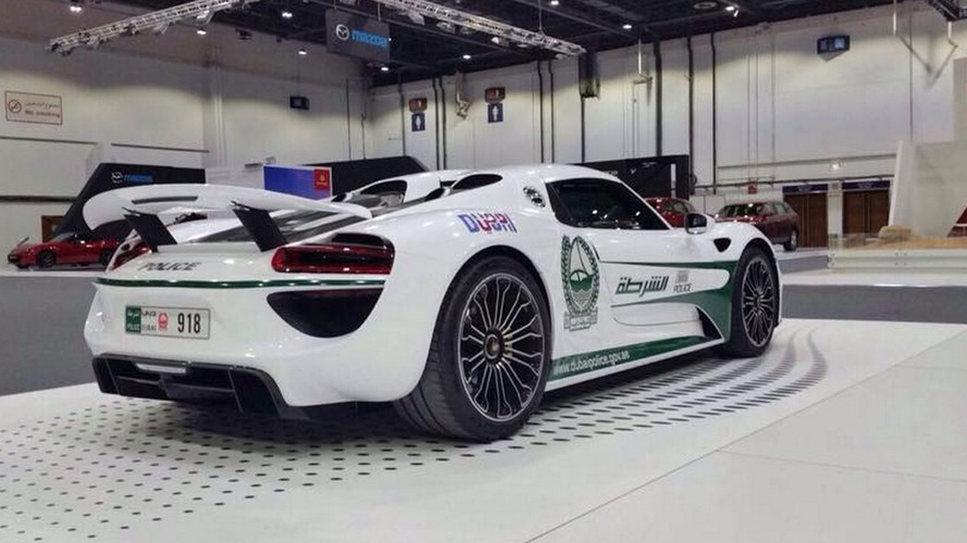 Porsche 918 Spyder joins Dubai police fleet