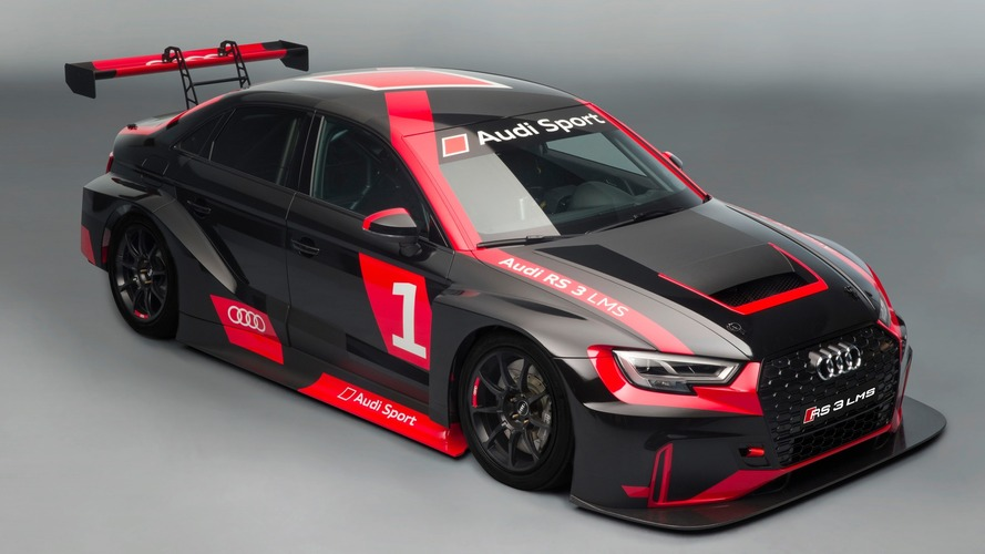 Audi RS3, RS5, R8 Share The Track With Their Racing Counterparts