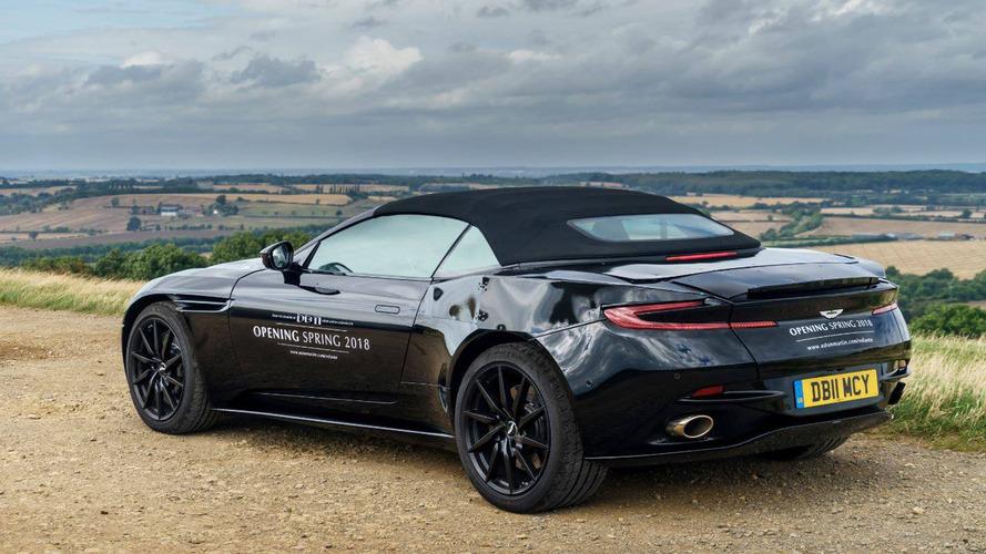 2018 Aston Martin, DB11 Volante'nin arka bölümü ilk kez yayınladı