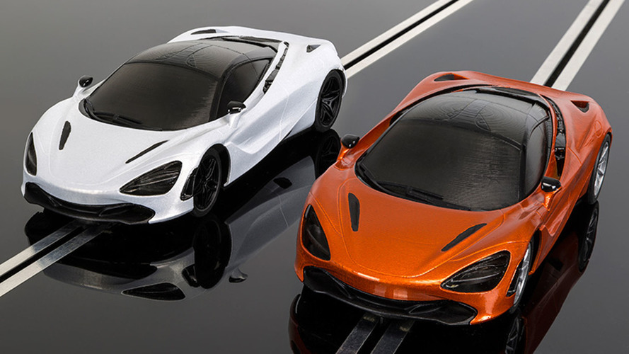 Mini McLaren 720S for Scalextric slot car racing already available