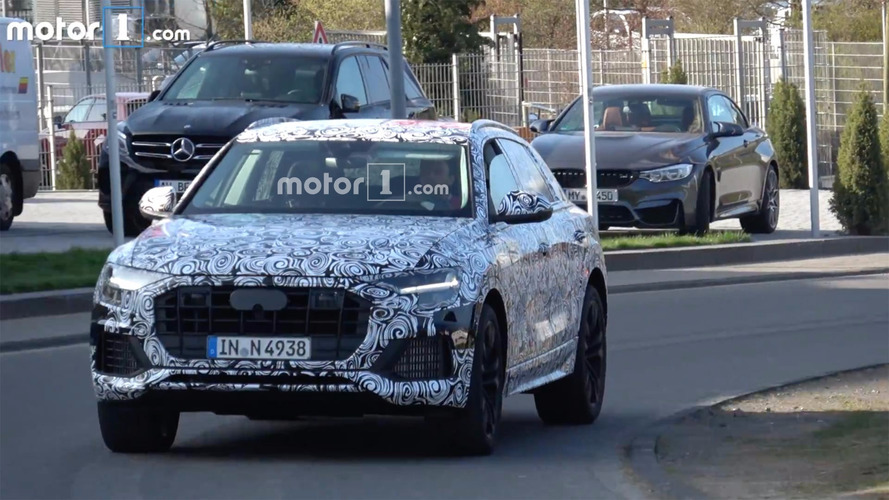 Audi Q8 Spied On Video Racing To The Ring