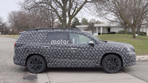 Subaru three-row crossover spy photo