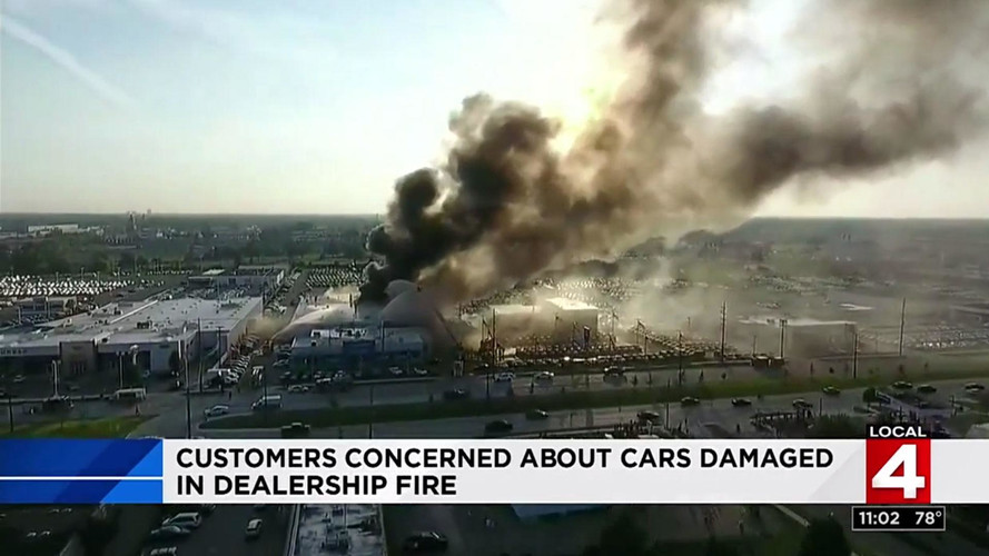 Massive Fire Destroys 30 Cars At A Chevy Dealership