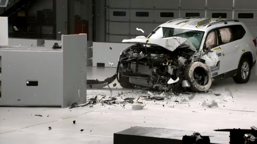 VW Atlas testes do IIHS
