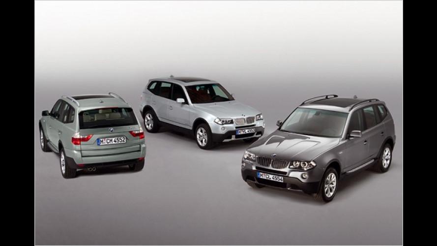 Schick gemacht: Neue Editionsmodelle vom BMW X3