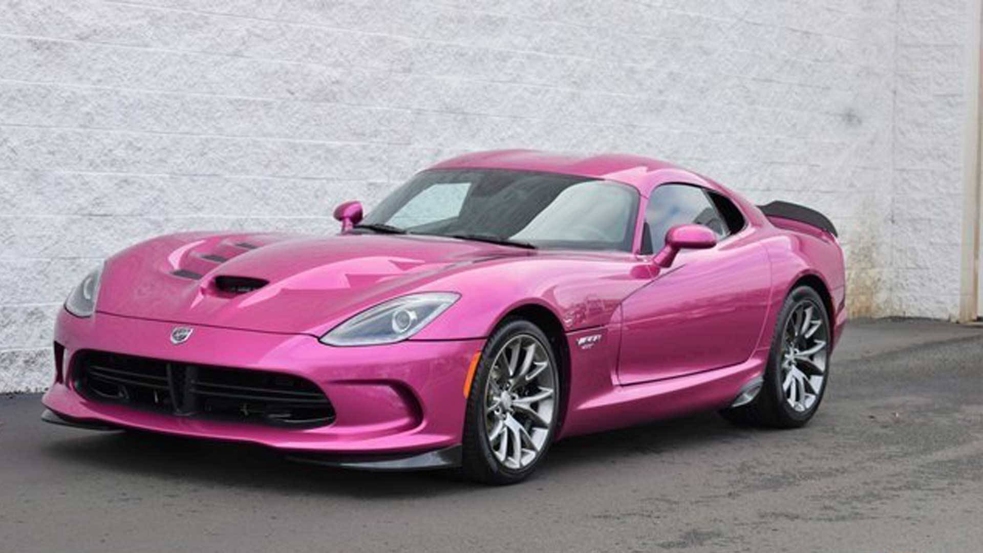 Dodge viper wears factory metallic pink paint selling for 155k publicscrutiny Choice Image