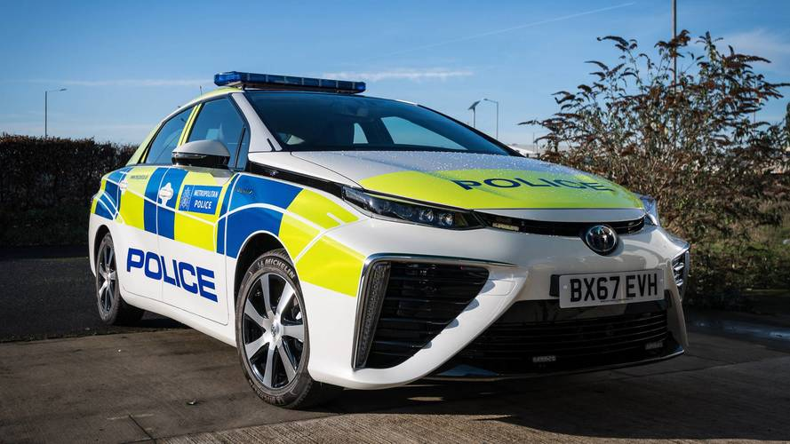 Boys in blue go green with hydrogen police cars