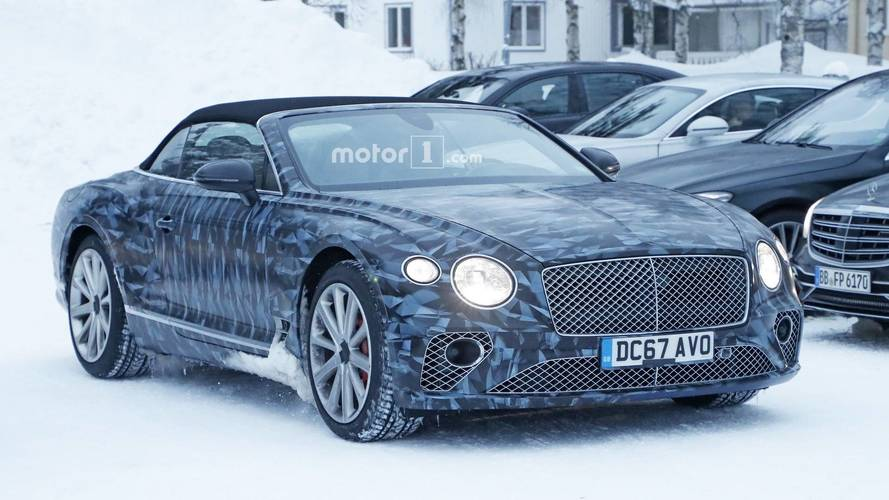 Bentley Continental GTC Puts On Arctic Wrap For Spy Photo Shoot