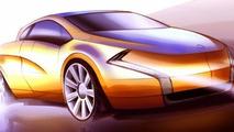Bertone coupé-cabriolet concept sketch