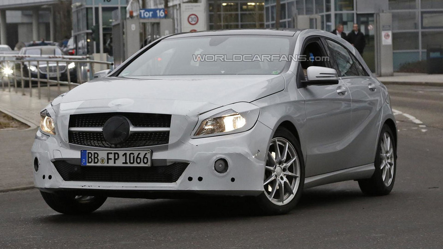 2016 Mercedes A-Class facelift spied showing modest changes