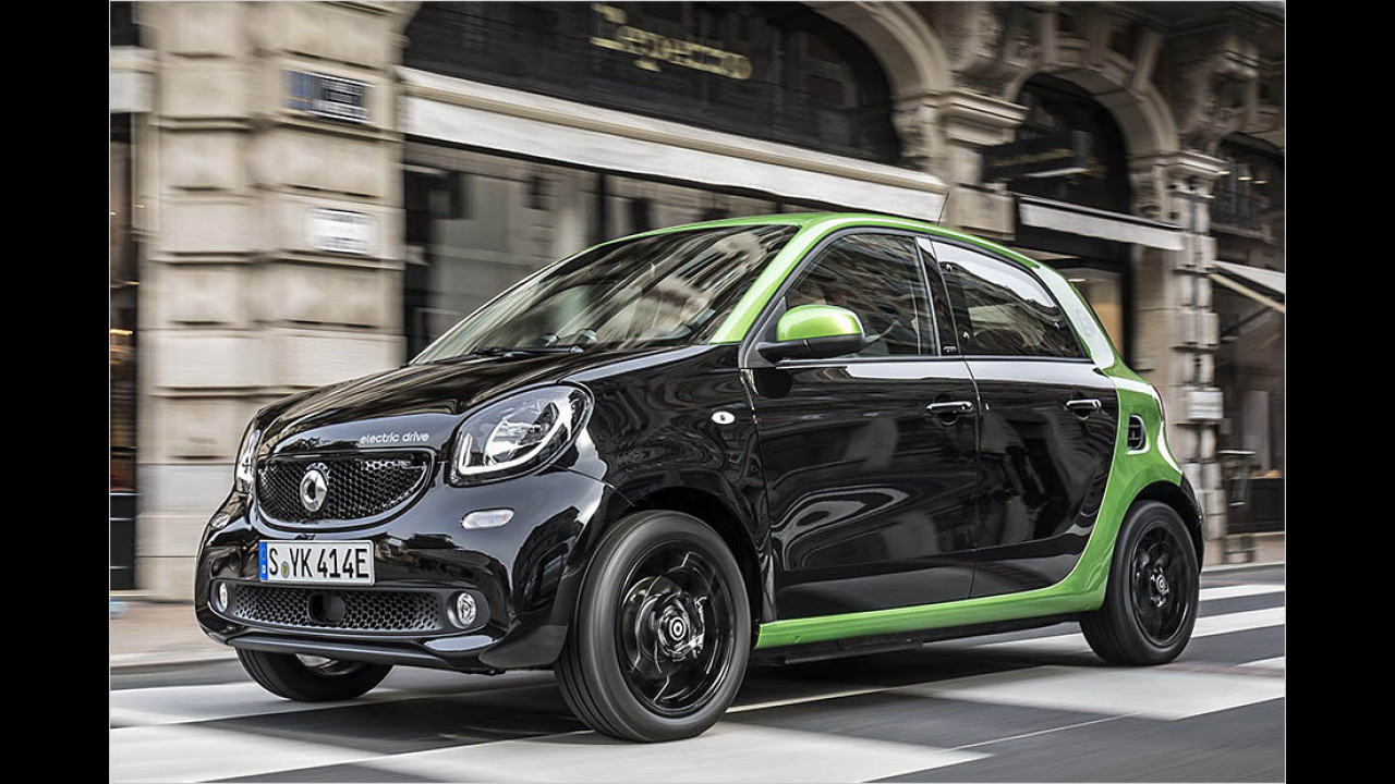 Smart Forfour electric drive: 155 km