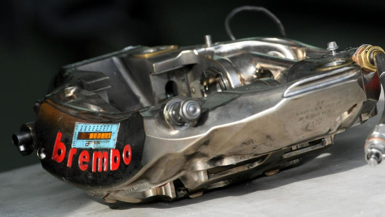 Red Bull Racing F1 Brembo brake caliper  Hungarian Grand Prix
