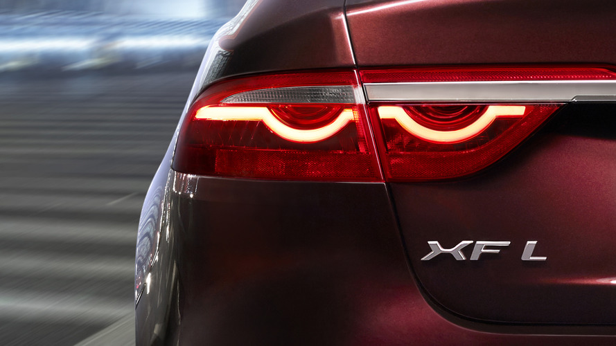 China-built Jaguar XF L teased ahead Beijing