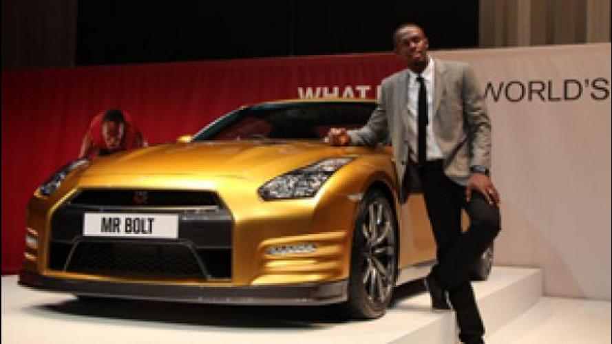 Nissan GT-R, quella dorata è in onore di Usain Bolt