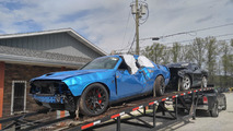 Crashed Dodge Challenger SRT Hellcat